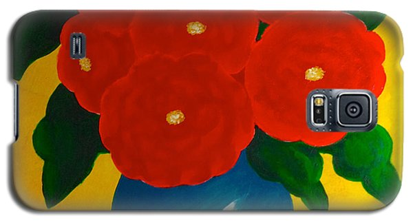 Red Bouquet Galaxy S5 Case by Anita Lewis