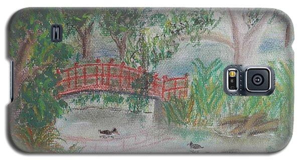 Red Bridge At Wollongong Botanical Gardens Galaxy S5 Case
