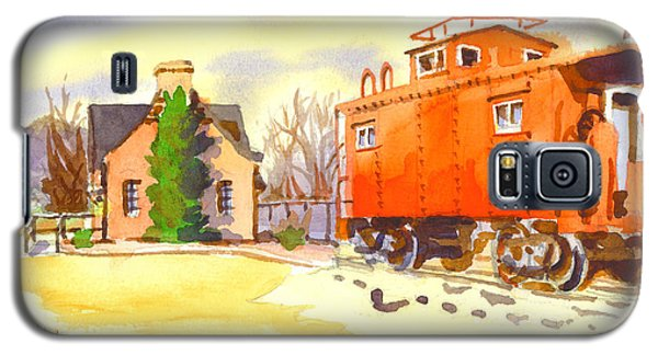 Red Caboose At Whistle Junction Ironton Missouri Galaxy S5 Case