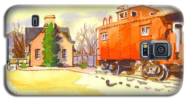 Red Caboose At Whistle Junction Ironton Missouri Galaxy S5 Case by Kip DeVore