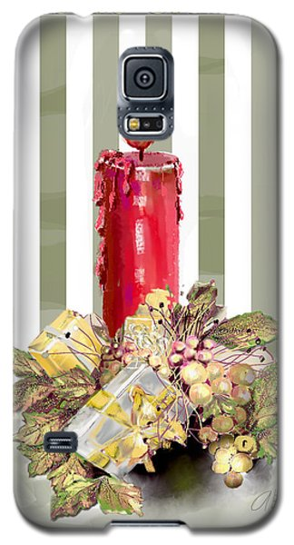 Galaxy S5 Case featuring the digital art Red Candle by Arline Wagner