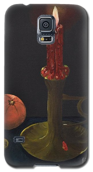 Galaxy S5 Case featuring the painting Red Candle by Melvin Turner