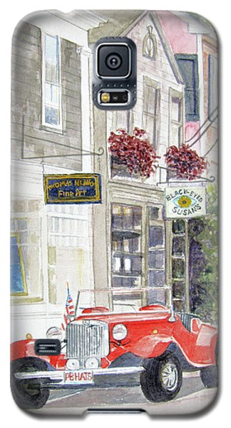 Galaxy S5 Case featuring the painting Red Car by Carol Flagg