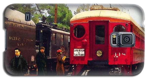 Red Car Long Beach And San Pedro Galaxy S5 Case by Timothy Bulone