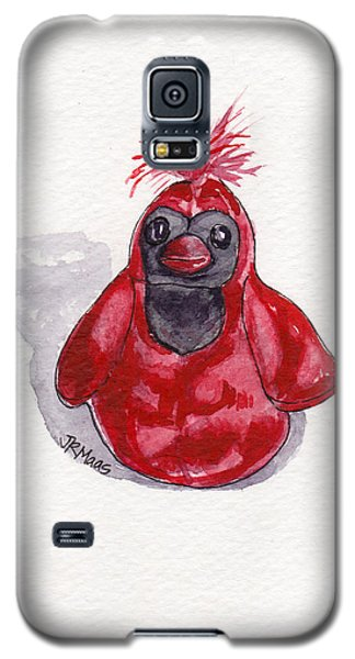 Red Cardinal Galaxy S5 Case by Julie Maas