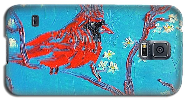 Red Cardinal Spring Galaxy S5 Case