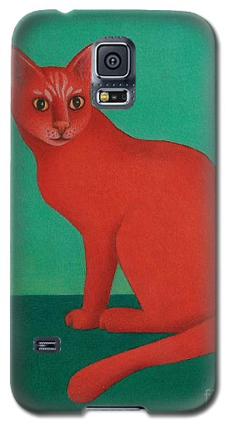 Red Cat Galaxy S5 Case by Pamela Clements