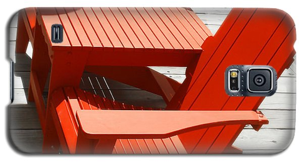 Galaxy S5 Case featuring the photograph Red Chairs by Raymond Earley