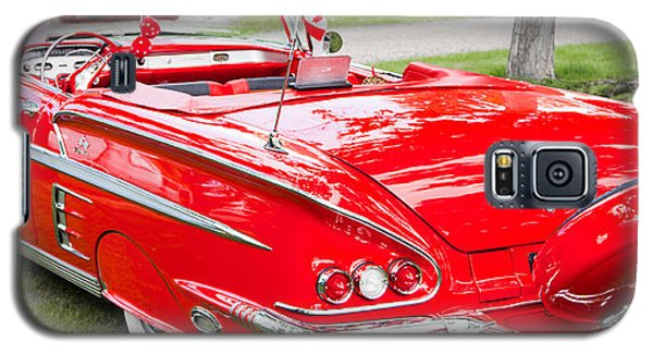 Galaxy S5 Case featuring the photograph Red Chevrolet Classic by Mick Flynn