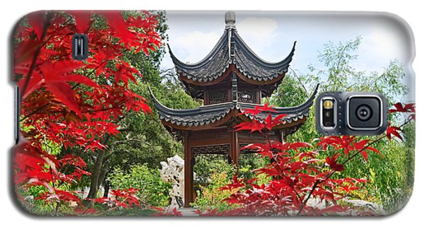 Garden Galaxy S5 Case - Red - Chinese Garden With Pagoda And Lake. by Jamie Pham