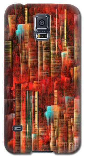 Galaxy S5 Case featuring the painting Concrete Jungle by Yul Olaivar