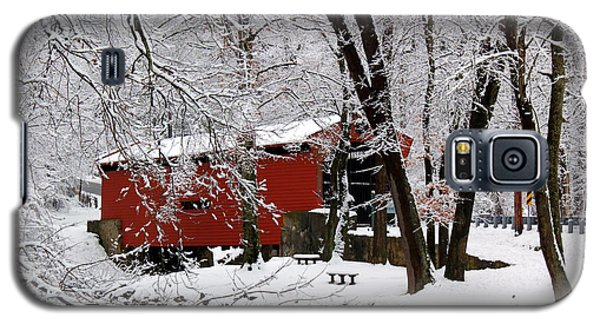 Red Covered Bridge Winter 2013 Galaxy S5 Case