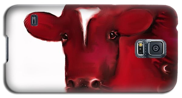 Red Cow Galaxy S5 Case by Mary Armstrong