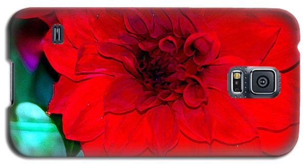 Galaxy S5 Case featuring the photograph Red Dahlia by Lehua Pekelo-Stearns