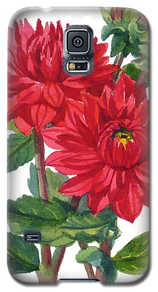 Red Dahlias Galaxy S5 Case