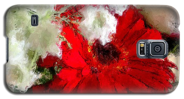 Galaxy S5 Case featuring the painting Red Daisy by Robert Smith