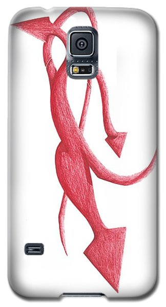 Galaxy S5 Case featuring the drawing Red Devil by Giuseppe Epifani