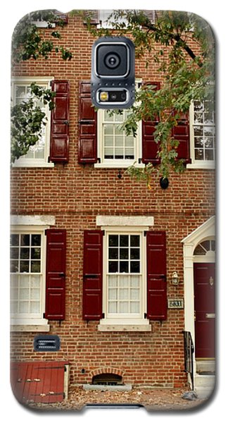 Galaxy S5 Case featuring the photograph Red Door And Shutters by Christopher Woods