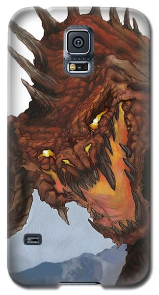 Dungeon Galaxy S5 Case - Red Dragon by Matt Kedzierski