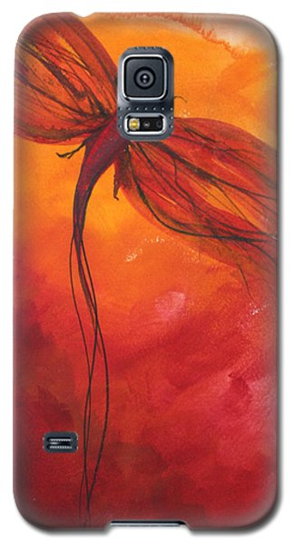 Red Dragonfly 2 Galaxy S5 Case by Julie Lueders
