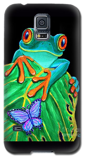 Red-eyed Tree Frog And Butterfly Galaxy S5 Case