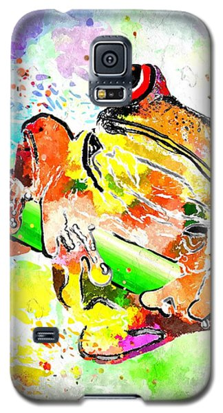 Red Eyed Tree Frog Grunge Galaxy S5 Case by Daniel Janda