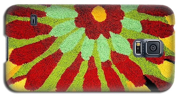 Galaxy S5 Case featuring the photograph Red Flower Rug by Janette Boyd