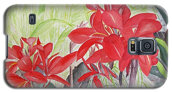 Red Flowers Galaxy S5 Case by Carol Flagg