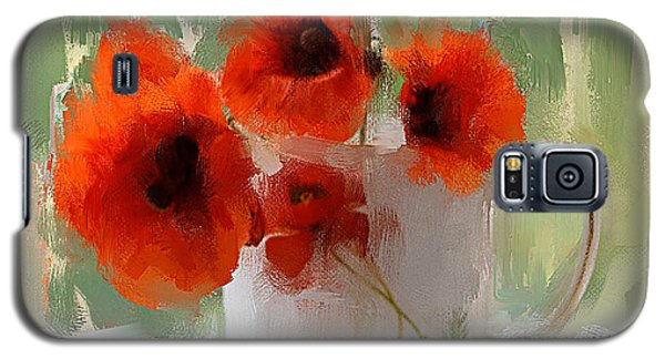 Red Flowers In A Cup Galaxy S5 Case