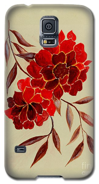 Red Flowers - Painting Galaxy S5 Case by Veronica Rickard