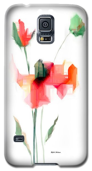 Red Flowers Galaxy S5 Case