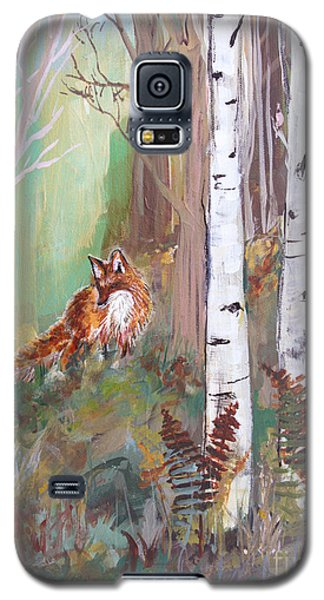 Red Fox And Cardinals Galaxy S5 Case