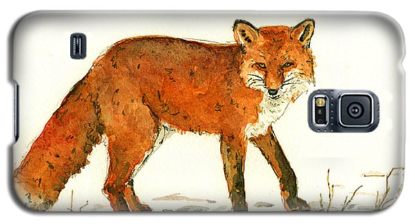 Red Fox In The Snow Galaxy S5 Case by Juan  Bosco