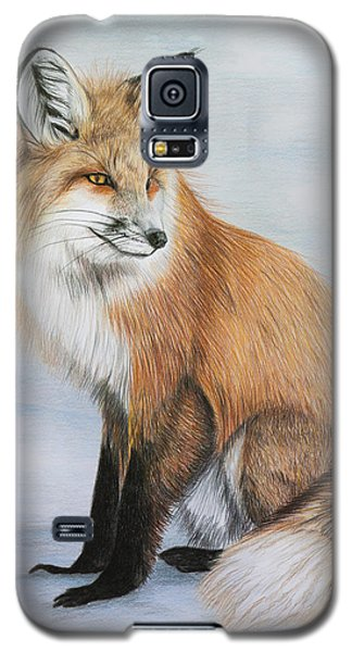 Red Fox Galaxy S5 Case by Lena Auxier