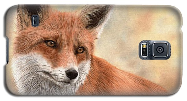 Red Fox Painting Galaxy S5 Case by Rachel Stribbling