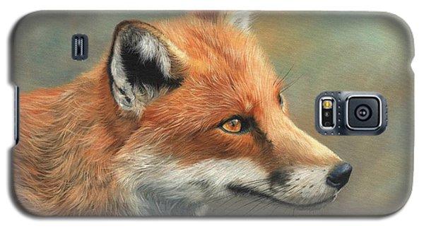 Red Fox Portrait Galaxy S5 Case by David Stribbling
