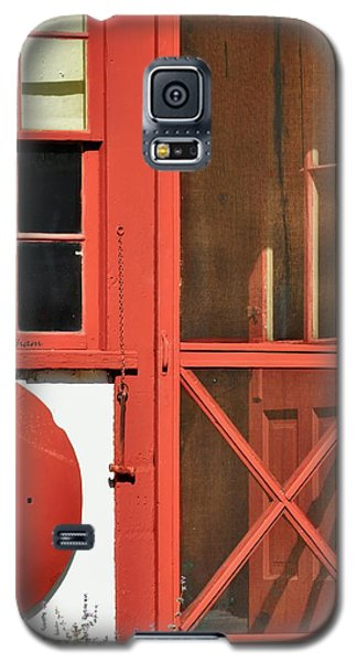 Red Framed Window And Door Galaxy S5 Case by Kae Cheatham