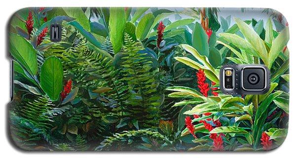 Red Garden Hawaiian Torch Ginger Galaxy S5 Case by Karen Whitworth