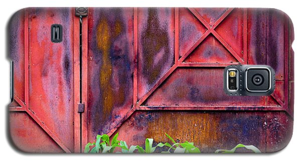 Galaxy S5 Case featuring the photograph Red Gate Green Corn by Ronda Broatch