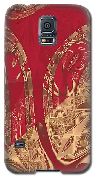 Red Geranium Abstract Galaxy S5 Case