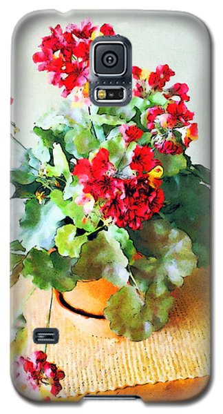 Red Geraniums Galaxy S5 Case