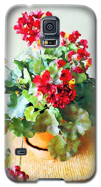 Red Geraniums Galaxy S5 Case