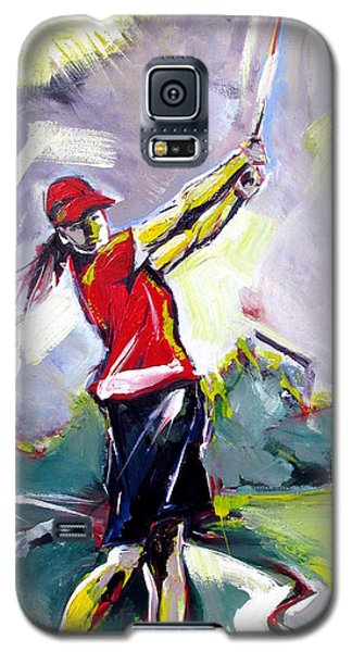 Red Golf Girl Galaxy S5 Case