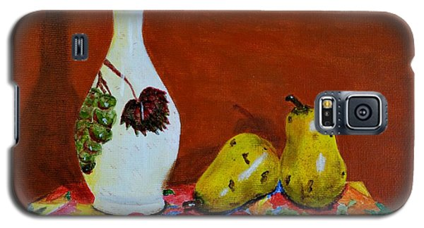 Galaxy S5 Case featuring the painting Red Grapes by Melvin Turner
