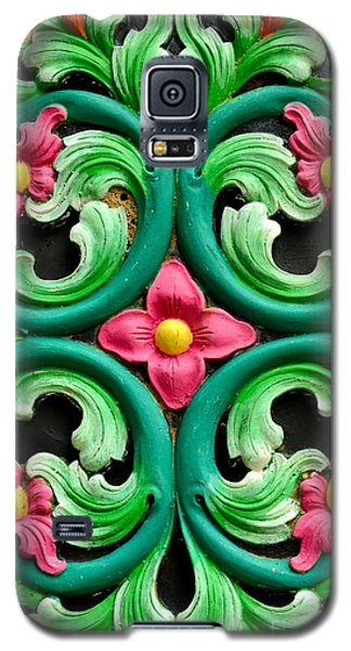 Red Green And Blue Floral Design Singapore Galaxy S5 Case