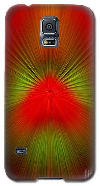 Galaxy S5 Case featuring the photograph Red Green Blur by Trena Mara