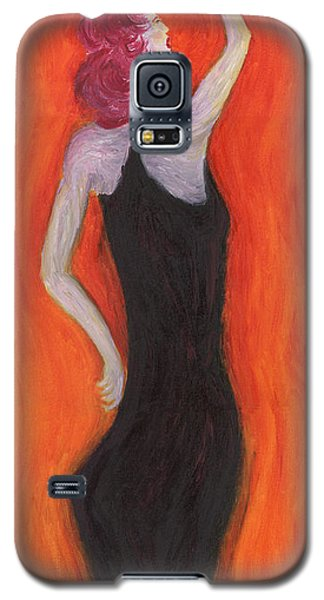 Red Haired Lady Galaxy S5 Case