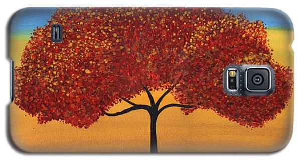 Red Happy Tree Galaxy S5 Case