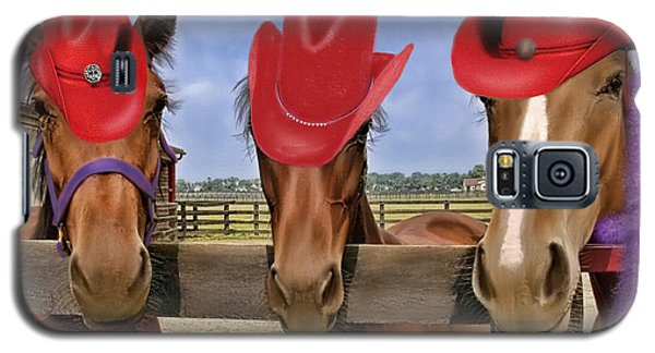 Galaxy S5 Case featuring the photograph Red Hat Ladies by Sami Martin