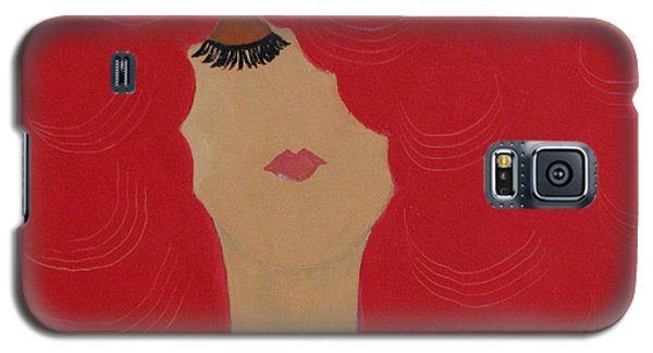 Red Head Galaxy S5 Case by Anita Lewis